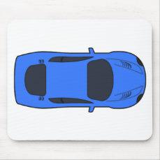 Dark Blue Sports Car Mouse Pad