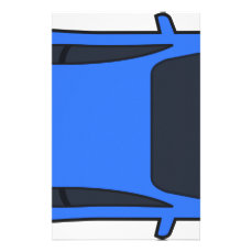 Dark Blue Sports Car Stationery