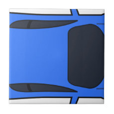 Dark Blue Sports Car Tile