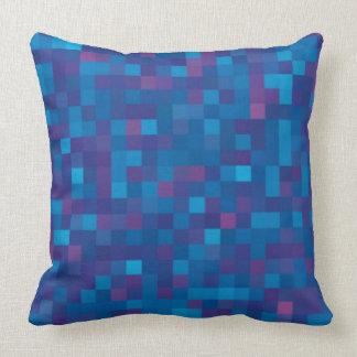 Dark blue  squares pillows