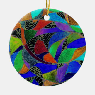Dark Blue stained glass ornament