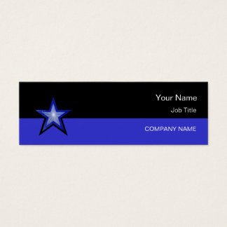 Dark Blue Star business card blue black skinny