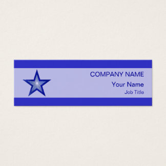 Dark Blue Star business card pale stripe skinny