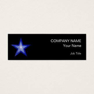 Dark Blue Star business card skinny black