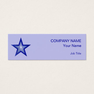 Dark Blue Star business card skinny pale blue