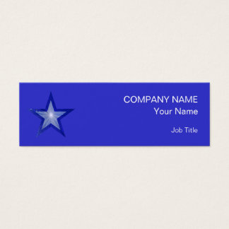Dark Blue Star business card template skinny blue