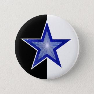 Dark Blue Star button black white