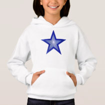 Dark Blue Star girl's hoodie