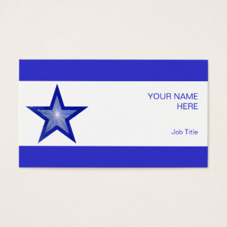 Dark Blue Star side star white stripe Business Card