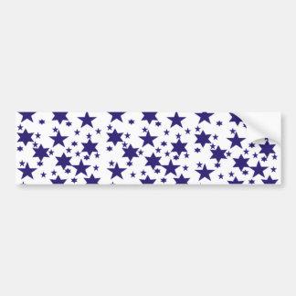 Dark Blue Stars Bumper Sticker