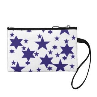Dark Blue Stars Coin Wallet