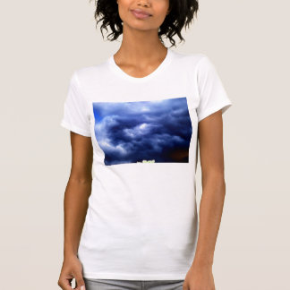 Dark Blue Storm and Glowing Treetop 2 by KLM T-shirts