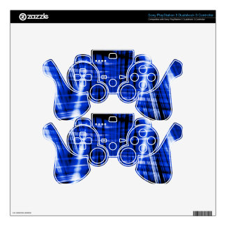 Dark blue streaks pattern PS3 controller skin