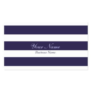 Dark Blue Stripe Business Card
