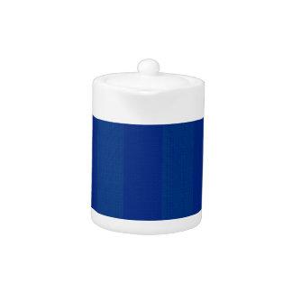 Dark Blue Stripes Teapot