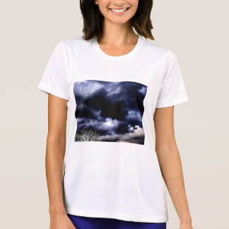 Dark Blue Sunset Storm and Negative Branches by KL T-Shirt