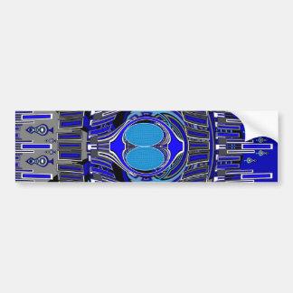 Dark blue superfly design car bumper sticker