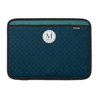 Dark Blue & Teal Custom MacBook Air Sleeve