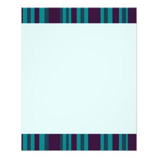Dark blue teal striped flyer