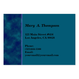 Dark blue teal texture side border business card templates