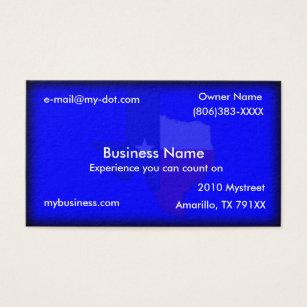 Texas business cards templates zazzle dark blue texas flag map business card colourmoves Choice Image