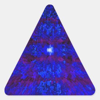 Dark Blue Textured Pattern Modern Art Triangle Stickers