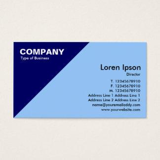 Dark Blue Triangular Corner - Pale Blue (99CCFF) Business Card