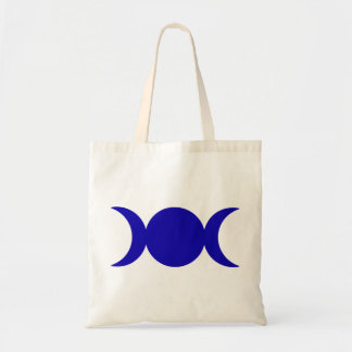 Dark Blue Triple Goddess Tote Bag