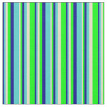 [ Thumbnail: Dark Blue, Turquoise, Tan, and Lime Colored Lines Fabric ]