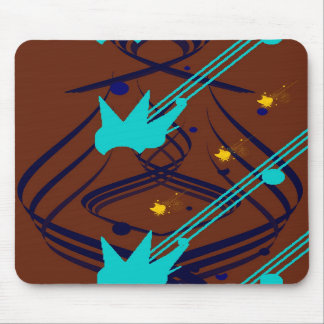 Dark Blue Vectors on Milk Chocolate Mousepad