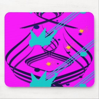 Dark Blue Vectors on Sizzlin' Pink Mousepad