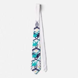 Dark Blue Vectors on Snow Tie