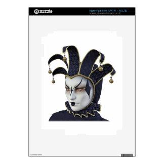 Dark Blue Venetian Carnivale Mask in Profile Decal For iPad 3