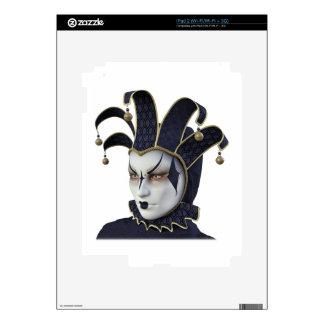 Dark Blue Venetian Carnivale Mask in Profile Decals For iPad 2