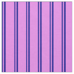 [ Thumbnail: Dark Blue & Violet Lined Pattern Fabric ]