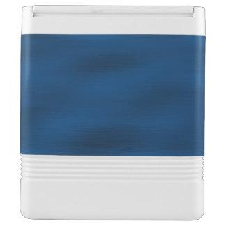 Dark Blue Water Ripples Cooler