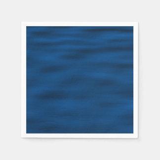 Dark Blue Water Ripples Napkin