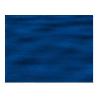 Dark Blue Water Ripples Postcard