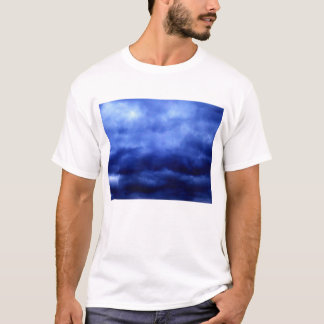 Dark Blue Wavy Storm by KLM T-Shirt