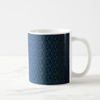 Dark Blue Weave Pattern Multi products selected Coffee Mug