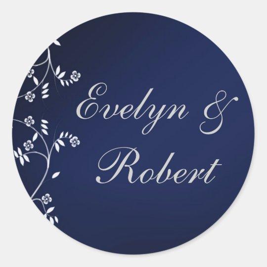 Dark blue wedding stickers