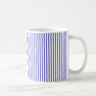 Dark Blue White Pinstripe Coffee Mug