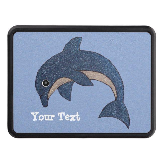 Dark Blue White Sparkle Jumping Dolphin Swirl Eye