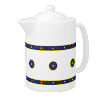 Dark Blue with Gold Stars Teapot