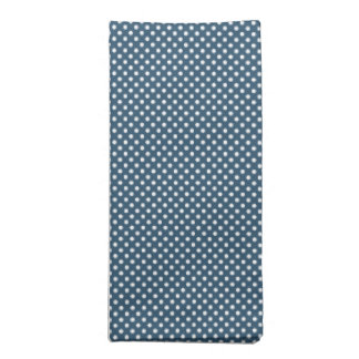 Dark Blue With Simple White Dots Napkins