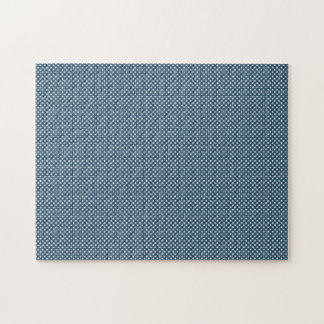 Dark Blue With Simple White Dots Puzzles