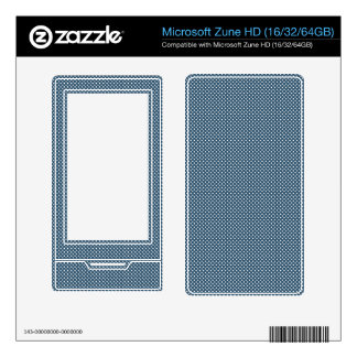 Dark Blue With Simple White Dots Decals For The Zune HD
