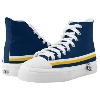 Dark Blue with White and Gold Trim Hi-Top