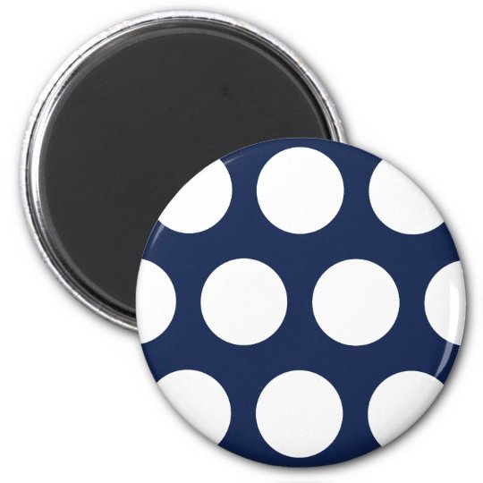 Dark Blue with White Dots Magnet