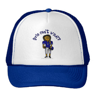 Dark Blue Womens Football Trucker Hat